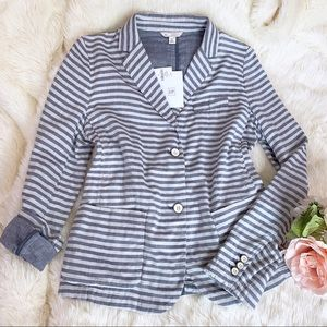 nwt GAP Striped Blazer Jacket size 8